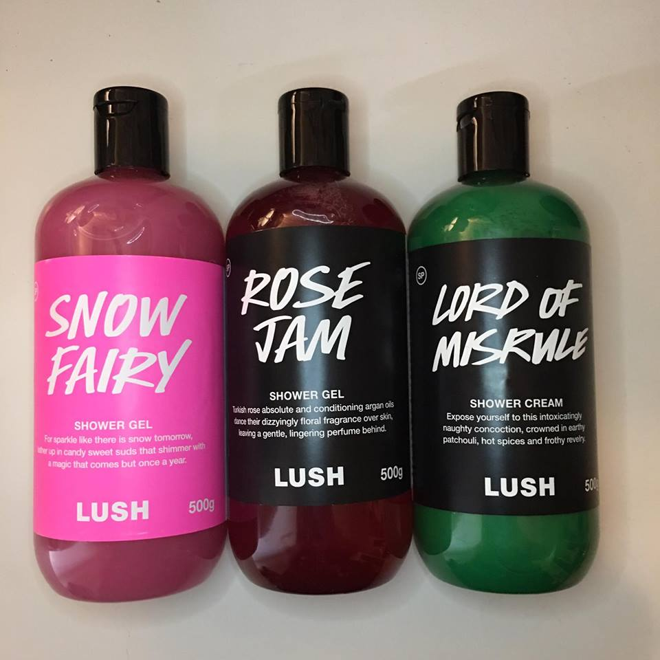Lush christmas haul - Rose 31 shower gel ...